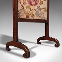Antique Needlepoint Fire Screen, English, Mahogany, Fireside Guard, Regency (12 of 12)