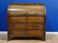 Biedermeir Mahogany Veneered Cylinder Bureau Desk 19th Century (13 of 14)