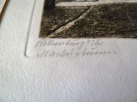 Etching by Professor Otto Ferdinand Probst - Rothenberg ? (4 of 5)