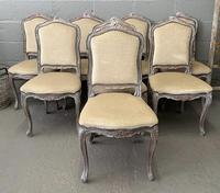 Lovely Set 8 French Dining Chairs