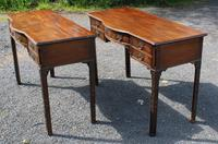 1920s Pair of Mahogany Chippendale Style Side Tables (3 of 4)
