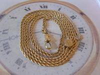 Edwardian Ladies Pocket Watch Guard Chain 1900 Antique 12 Gold Filled (4 of 10)