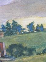 Watercolour Bourthwick  Castle Scotland, A B Moffat (6 of 10)
