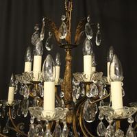 Italian 18 Light Gilded Brass Antique Chandelier (5 of 10)
