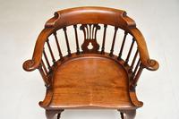 Antique Victorian Mahogany Captains  Desk Chair (4 of 11)