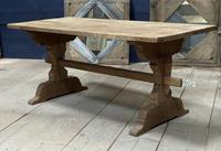 Smaller French Farmhouse Bleached Oak Dining Table (4 of 17)