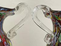 2 Beautiful Italian Murano Fratelli & Torso Millefiori Glass Vases (32 of 34)