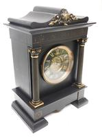 Amazing French Slate 8 Day Striking Heavy Quality Mantle Clock (5 of 12)