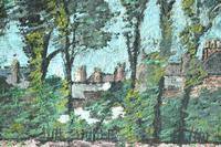 Early 20th Century British School A Town Garden Oil on Board (7 of 9)