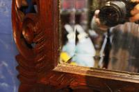 Large 19th Century Black Forest Carved Mirror (10 of 12)