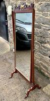 Antique Mahogany Cheval Mirror (15 of 18)