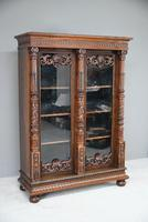 Anglo Indian Carved Rosewood Glazed Cabinet (3 of 14)