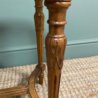French Walnut Caned Long Antique Stool c.1900 (3 of 6)