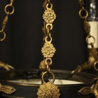 French Gilded Bronze Empire 4 Light Chandelier (6 of 10)