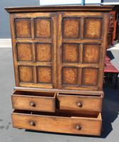1940s Oak Linen Press with Slides & Drawers (3 of 5)