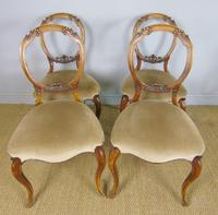 Antique Set of 4 Mahogany Balloon Back Chairs (2 of 8)