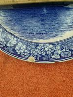 """1901 Wedgwood Etruria Queensware """"The Intrepid"""" Boat Plate (3 of 10)"""