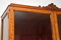 Queen Anne Style Burr Walnut Display Cabinet c.1930 (8 of 11)