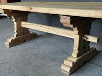 Rustic French Bleached Oak Farmhouse Dining Table (9 of 15)