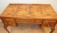 Quality Burr Walnut Side Table Writing Desk (4 of 14)