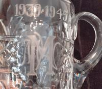 """Crystal Glass Tankard with etching """"1939-1945"""" (2 of 2)"""