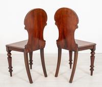Good Pair of Victorian Mahogany Hall Chairs (7 of 8)