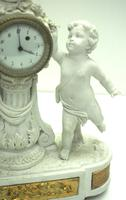 French Empire Figural Mantel Clock – Bisque Porcelain Cherub Verge Mantle Clock c.1800 (7 of 13)
