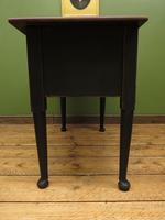Antique Black Painted Writing Table Desk with Drawers, Gothic Shabby Chic (8 of 12)