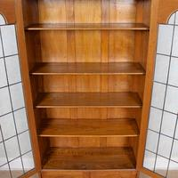 Oak Leaded Glazed Bookcase Arts & Crafts (8 of 10)