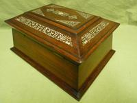 Large Inlaid Rosewood Jewellery / Table Box c.1835 (5 of 12)