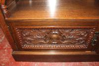 1920s Arts & Craft Style Carved Oak Sideboard with Back (9 of 9)
