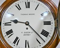 """Wonderful 12"""" English Fusee Dial Timepiece by Thomas Moore 1870 (2 of 9)"""