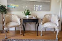 Pair of Late 19th Century French Part Upholstered Painted Tub Chairs (5 of 23)