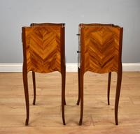 Pair of Louis XVI Style Marquetry Inlaid Bedsides Cabinets (3 of 8)