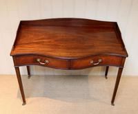 Mahogany Serpentine Front Side Table (7 of 10)