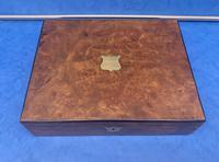 Victorian Burr Walnut Writing Box c.1870 (2 of 14)