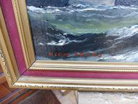 Oil on Board Battle on the Ocean Wave Listed Artist Dion Pears (2 of 12)