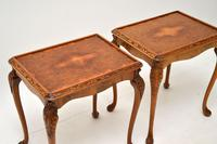 Pair of Antique Queen Anne Style Burr Walnut Side Tables (3 of 8)