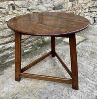 Antique Georgian Oak Cricket Table (7 of 15)