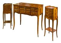 Suite of French Walnut & Floral Marquetry