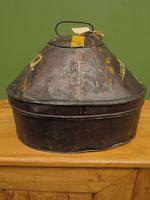 Antique Military Hat Tin Trunk, Lieutenant P Montgomery, A Quirky Bread Bin? (4 of 12)