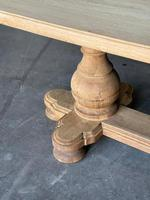 Large French Bleached Oak Monastery Dining Table (14 of 18)