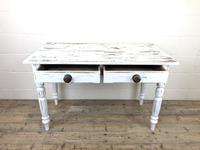 Distressed White Painted Victorian Pine Table (2 of 8)