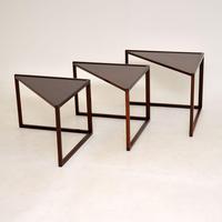 1960's Danish Rosewood Nest of Tables by Kai Kristiansen