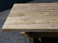 Large Rustic Bleached Oak Farmhouse Refectory Dining Table (7 of 25)