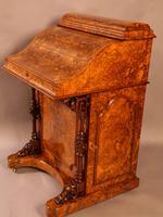 "Superb Victorian Burr Walnut ""Jack in a Box"" Davenport (2 of 16)"
