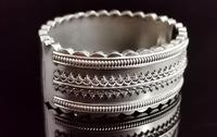 Antique Victorian Silver Bangle, Aesthetic Era, Boxed (4 of 17)