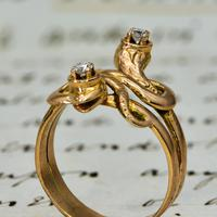 The Antique Late Victorian Diamond Crowned Snake Ring (3 of 5)