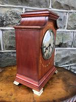 Antique Inlaid Mahogany Bracket Clock (4 of 8)