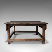 Large Antique Textiles Table, English, Pine, Shop, Retail, Display, Victorian (5 of 12)